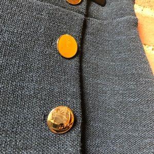 LOFT Skirts - LOFT Navy Blue Skirt w/ Gold Buttons